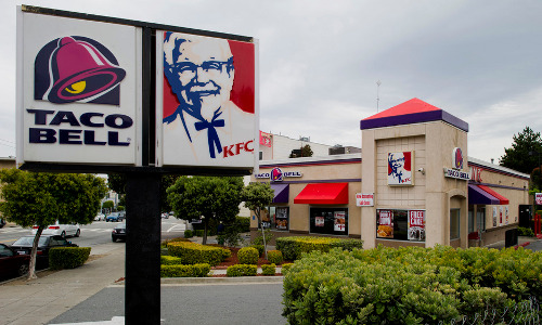 A Yum Brands' KFC/Taco Bell outlet.